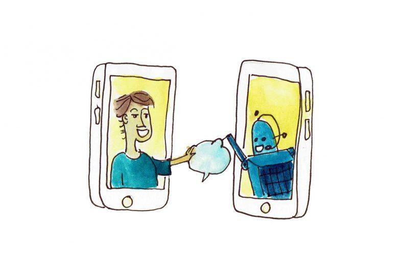 robot-mens-telefoon
